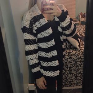 Striped forever 21 cardigan